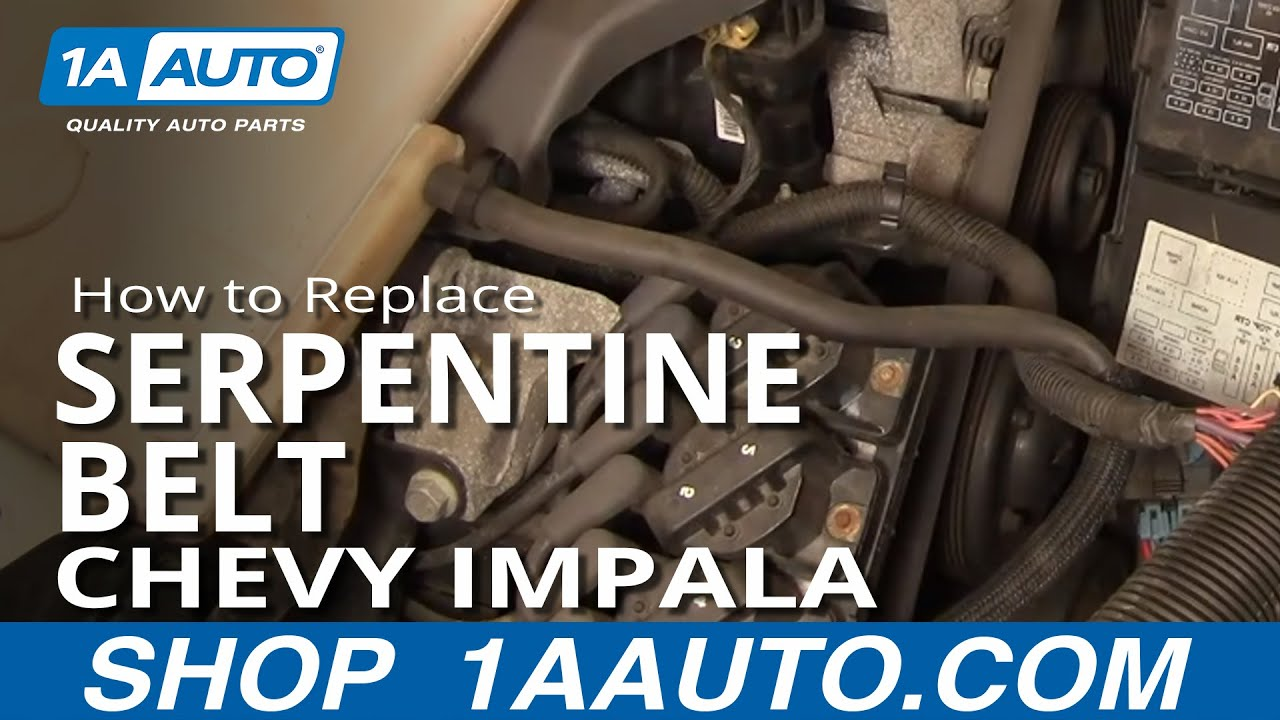 hight resolution of how to install repair replace serpentine engine belt chevy impala 3800 00 05 1aauto com