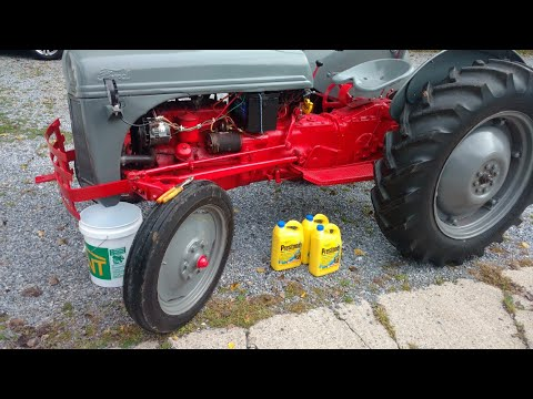 Repeat Changing the coolant in a Ford 8N farm tractor by