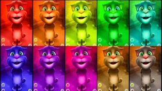 Говорящий КОТ ТОМ 🐱🐱🐱 Учим ЦИФРЫ до 10 Цветные Томы Обучающее видео для детей