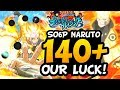 OUR CLUTCH LUCK! SAGE OF SIX PATHS NARUTO SUMMONS! 140+ | NARUTO SHIPPUDEN ULTIMATE NINJA BLAZING