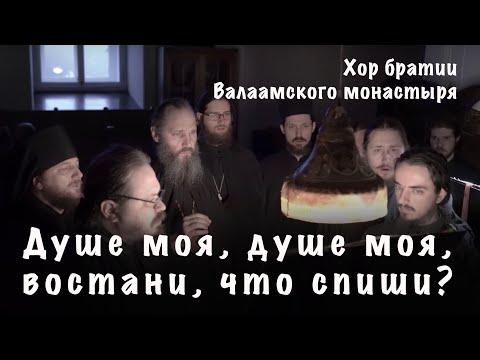 Душе моя, душе моя, востани, что спиши? | Хор братии Валаамского монастыря