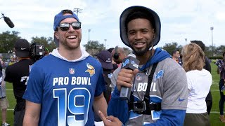 Darius Slay talks with NFC rival Pro Bowlers