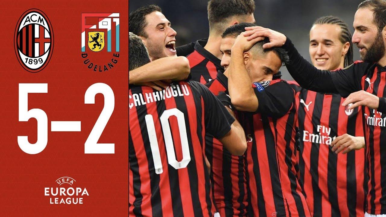 Highlights AC Milan 5-2 F91 Dudelange