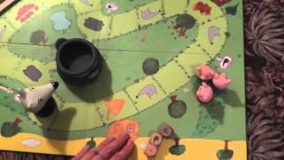 Обзор Настольная игра Djeco Woolfy Игра настольная детская Три поросенка DJ08427