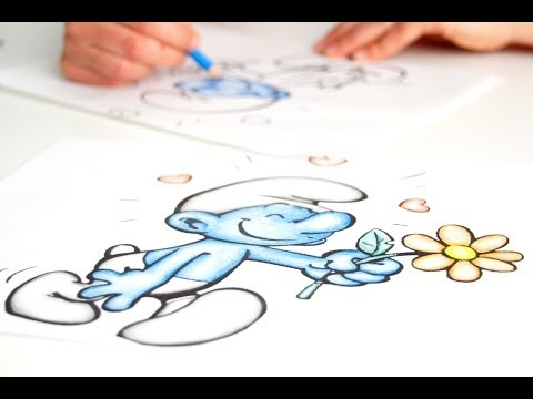 Colorare disegni per bambini con i pastelli youtube for Disegni 3d facili per bambini