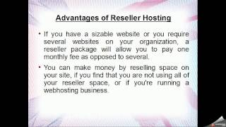 Internet Hosting Service with Reseller and Shared Hosting
