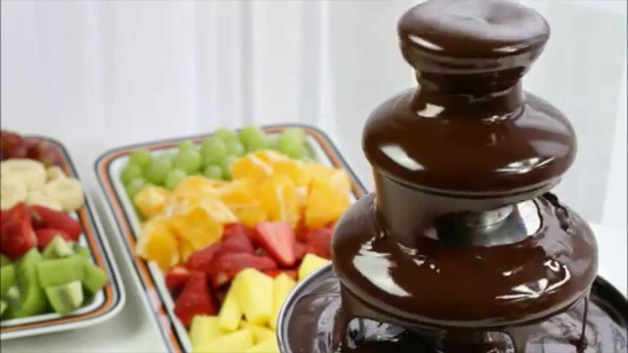 zin in een lekker toetje huur een chocoladefontein youtube. Black Bedroom Furniture Sets. Home Design Ideas