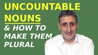 How to Count UNCOUNTABLE nouns: A PIECE OF ADVICE