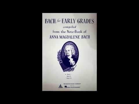 1. Chorale, Anna Magdalena Bach (Piano Score)