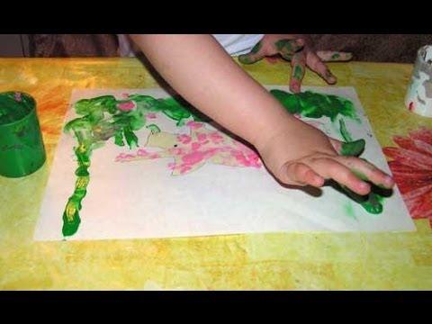 Рисование пальчиками от 1-го до 2-х лет. Занимаемся вместе.