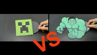 REALISTIC MINECRAFT CREEPER vs HULK Pancake Challenge