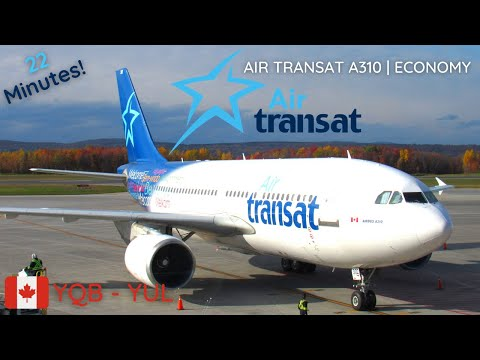 TRIP REPORT | Air Transat A310-300 | Quebec City (YQB) To Montreal (YUL) | Economy