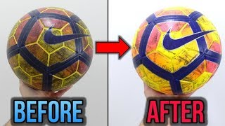 GET RID OF TURF STAINS! - HOW TO CLEAN YOUR FOOTBALL/SOCCER BALL - TUTORIAL