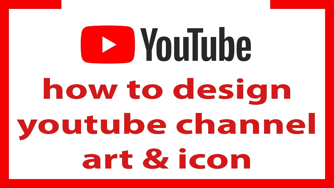 youtube channel art canva || Youtube channel art and channel icon design 2020