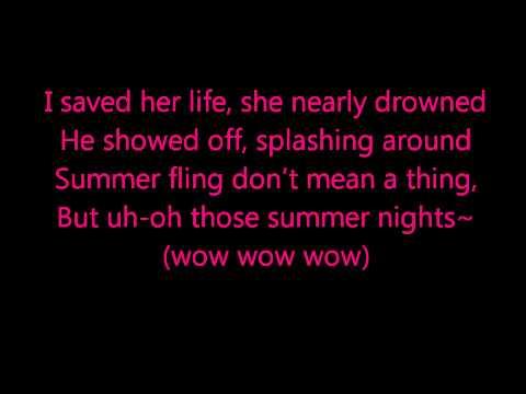 Glee - Summer Nights - lyrics