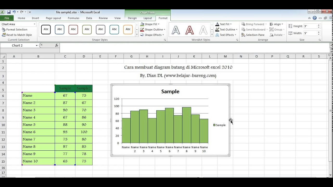 Cara membuat diagram batang di microsoft excel 2010 youtube cara membuat diagram batang di microsoft excel 2010 ccuart Image collections