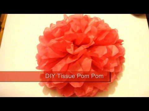 Tissue Pom Pom / How To Make Paper Pom Poms / Wedding Decor
