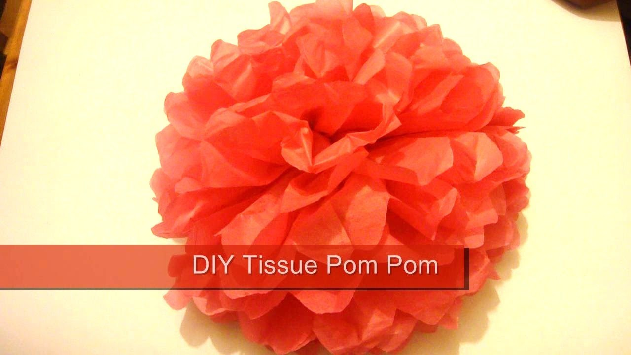 Tissue Pom Pom How To Make Paper Pom Poms Wedding Decor Youtube