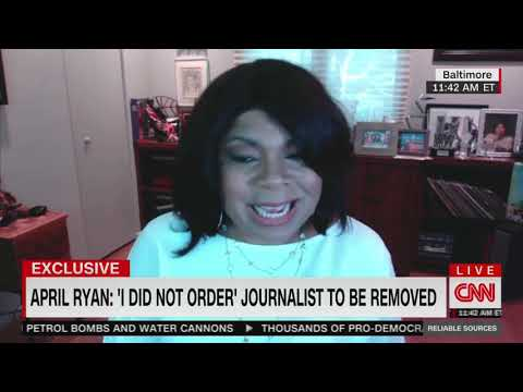 April Ryan says her bodyguard 'overreacted' when pushing out local reporter