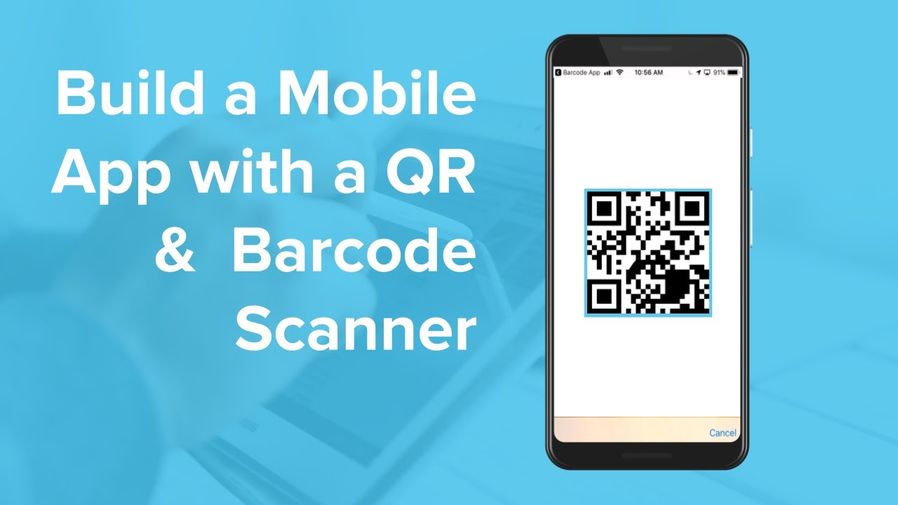 How To Build An App With A Qr And Barcode Scanner Youtube