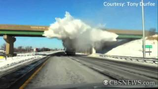 Snow Explosion Caught on Tape