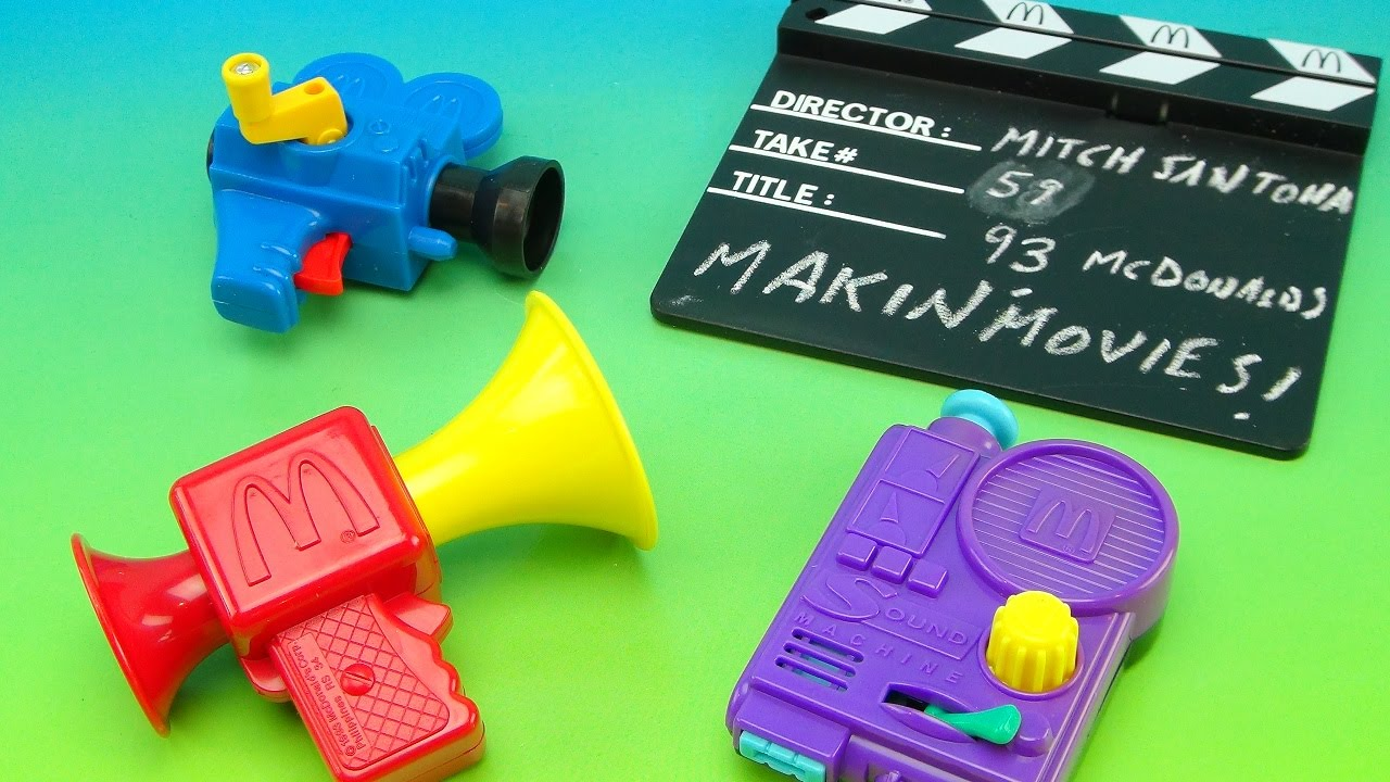 MCDONALD'S MAKIN' MOVIES 1993 HAPPY MEAL TOY COLLECTIONE ...