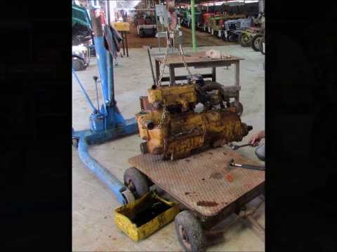 D8 Caterpiller Starting Engine Removal