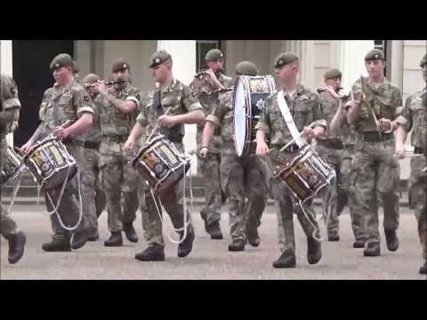 The Combined Corps of Drums Rehearsing at Wellington Barracks - 3rd June