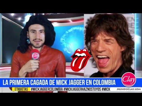 ATENCIÓN: La primera cagada de Mick Jagger en Colombia
