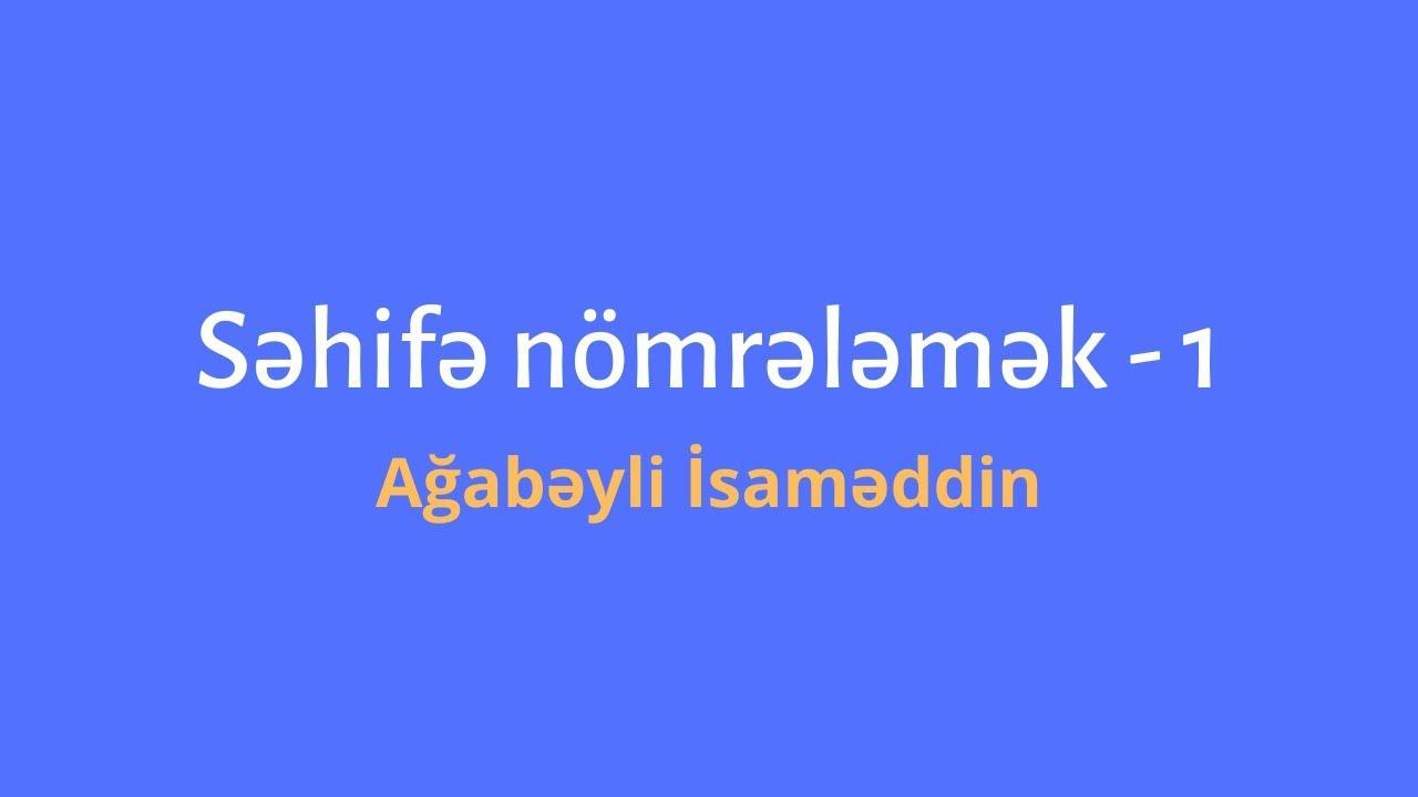 Kater məsələləri -1.Ağabəyli İsaməddin.