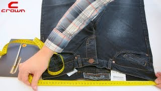 Crown Jeans & Essejeffe   как правильно сделать замеры джинсов