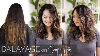 Balayage on Dark Hair | Foilayage Technique on Black Asian Hair