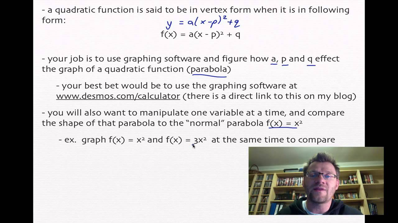 31 quadratic functions in vertex form pre calc 20 youtube 31 quadratic functions in vertex form pre calc 20 falaconquin