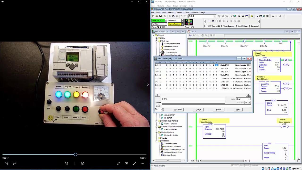 Allen Bradley Analog PLC training Micrologix 1400 Trainer RSLogix 500