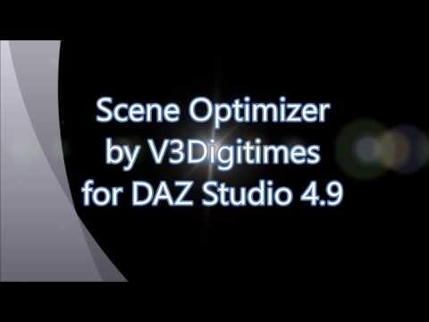 Scene Optimizer for DAZ Studio 4 9+