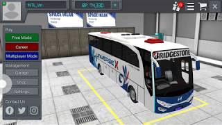 Chơi  BUS simulator indonesiamod mod còi và skin Huyndai  universe xpress