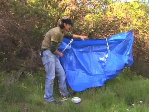 Basic Wilderness Survival Skills : Wilderness Survival: Collect Rain Water