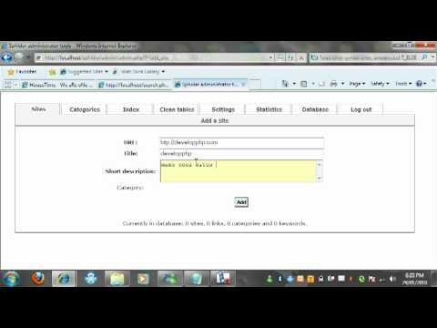 how to get and use a free php search engine and indexbot easy to follow guide.