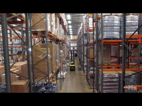 Drone Filming inside a Warehouse