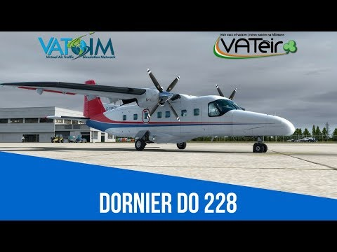 [VATSIM Flight] Dornier Do 228 flight from Waterford to Dublin [D228] Live Stream 16/02/2018