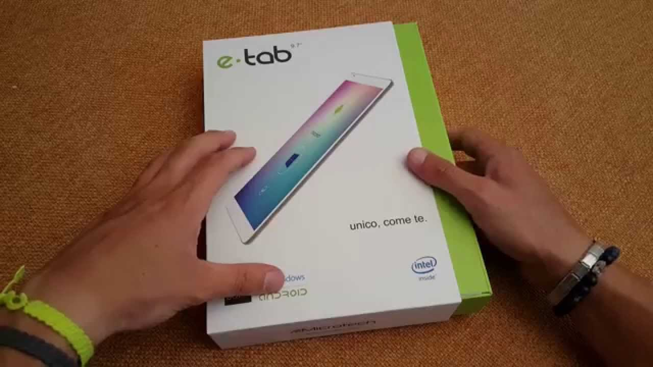 Unboxing Microtech E-tab Android 5 0, Windows 8 1, Remix ...