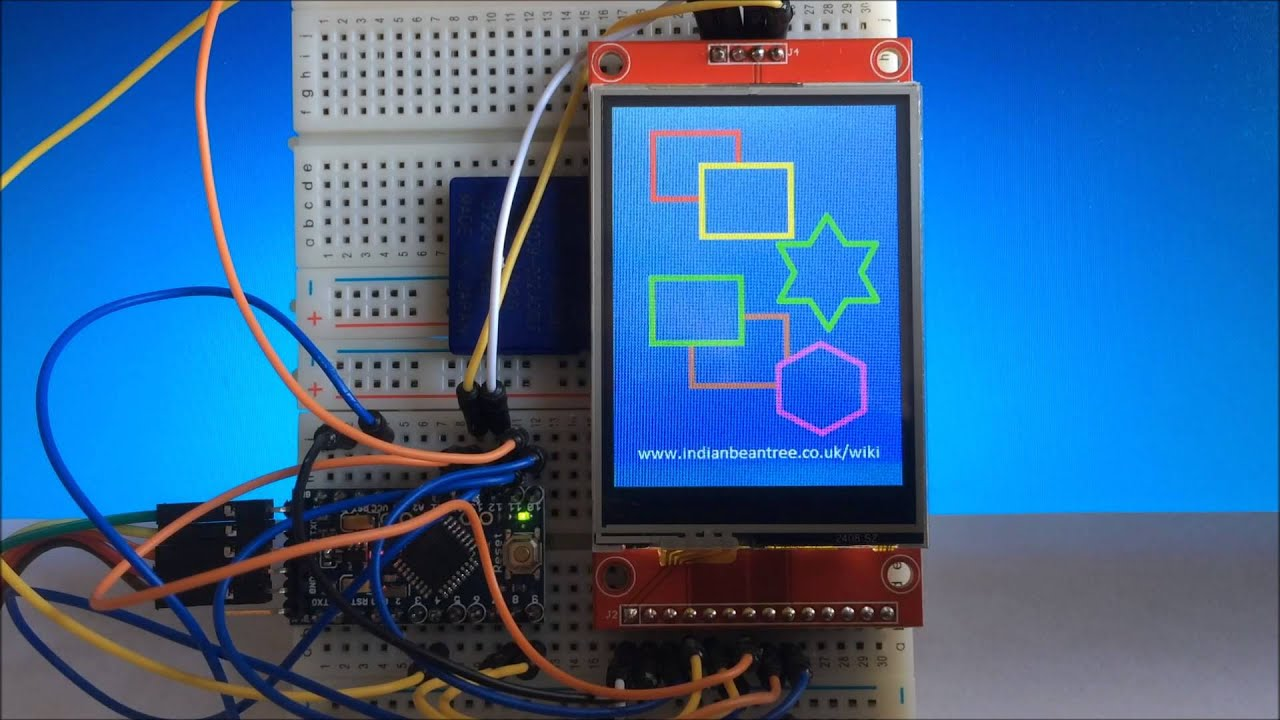 ILI9341 TFT Touch Screen - ProjectPages