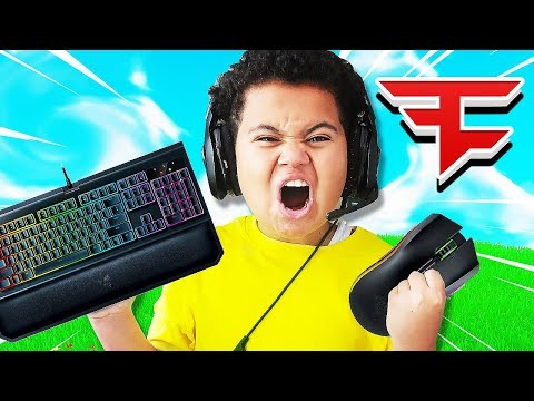 FaZe Kaylen *PLAYS* On Keyboard And Mouse For The First Time CHALLENGE! IS HE A FORTNITE PRO NOW!??