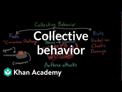 Aspects of Collective Behavior: Fads, Mass Hysteria, and Riots  Behavior  MCAT  Khan Academy