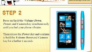 HARDHARD RESET Nokia Lumia 800 (external) Master Reset (RESTORE to FACTORY condition) Video