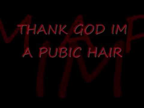 thank god ime a pubic hair (lyrics)