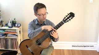 Lesson: Beginner Technique Exercises for Classical Guitar (Free PDF Method )