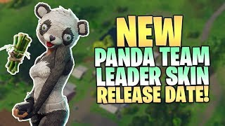 Fortnite NEW PANDA Team Leader RELEASE Date - How To Get Panda Team Leader Skin in Fortnite