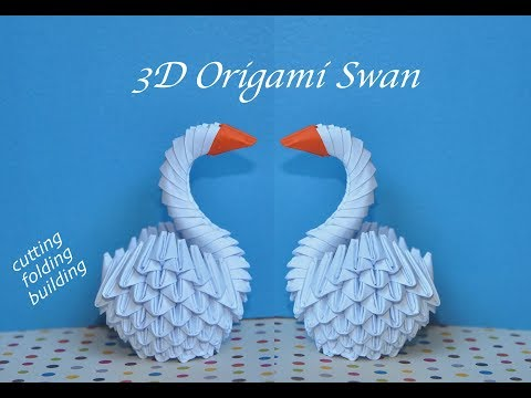 How to make a 3D Origami Swan | small