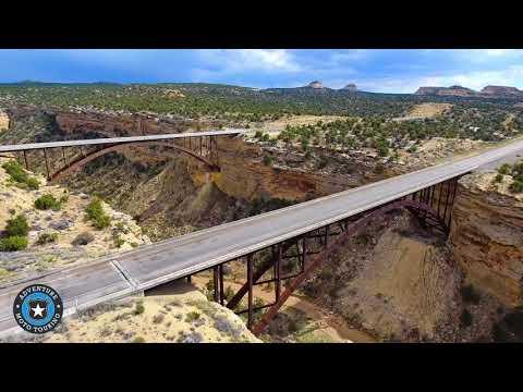 Eagle Canyon Bridge I-70 Utah by Drone